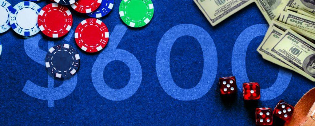 100% бонуса до 600$